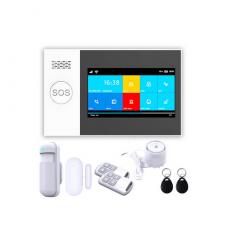 GW05 - Bộ Báo Động Chống Trộm Qua WIFI + Sim GSM Màn Hình Màu Cảm Ứng