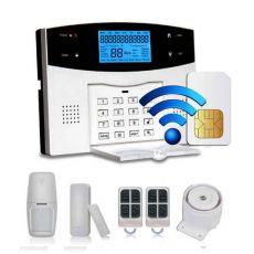 Bộ Thiết Bị Chống Trộm Dùng SIM + WIFI + PTSN Báo Qua Điện Thoại GP05W
