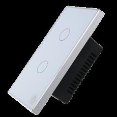 Công Tắc Cảm Ứng Có Phản Hồi SmartZ 2 nút SW100V.2 - Màu trắng Viền bạc
