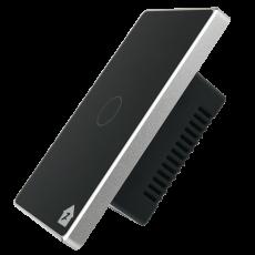 Công Tắc Cảm Ứng Có Phản Hồi SmartZ 1 nút SW100V.1 - Màu đen viền bạc