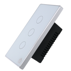 Công Tắc Cảm Ứng Có Phản Hồi SmartZ 3 nút SW100V.3 - Viền bạc